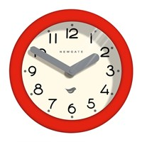 Newgate Pantry Clock Fire Engine Red