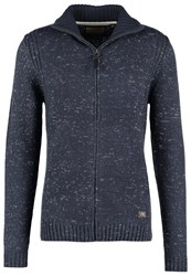 Petrol Industries Cardigan Deep Navy Mottled Dark Blue