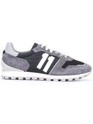 Dirk Bikkembergs Contrast Panel Sneakers Grey