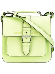 Armani Jeans Buckled Satchel Bag Women Polyester Polyurethane One Size Green