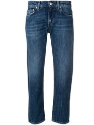 Department 5 Cropped Straight Jeans Blue