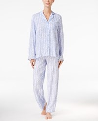 Charter Club Lace Trimmed Printed Pajama Set Only At Macy's Lilac Vines