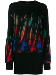 Dsquared2 Thermal Pattern Knitted Dress Black