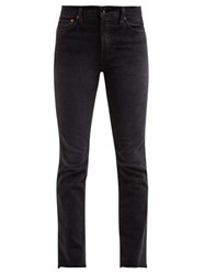 Re Done Originals Double Needle Slim Leg Jeans Black