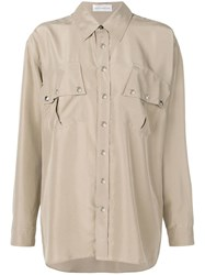 Faith Connexion Oversized Long Sleeve Shirt Neutrals
