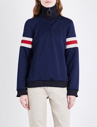 J.W.Anderson Striped Sleeves Jersey Jacket Midnight Blue