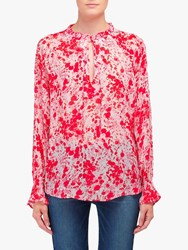 Lily And Lionel Florence Forget Me Knot Print Top Pink