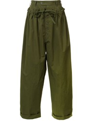 Craig Green Elastic Waistband Loose Fit Trousers Green