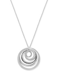Swarovski Silver Tone Spiral Light And Dark Crystal Pendant Necklace