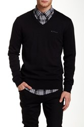 Ben Sherman V Neck Knit Pullover Black