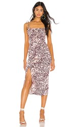 Free People Show Stopper Midi Dress In Pink.