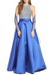 Jvn By Jovani Women's Embellished Ballgown And Shawl
