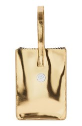 Kara Pinch Wristlet Clutch Metallic Gold