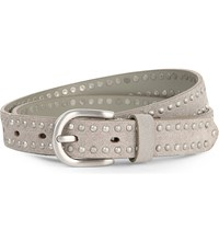The White Company Skinny Studded Suede Belt Grey