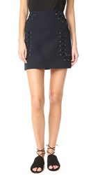 Derek Lam 10 Crosby Miniskirt With Grommet And Lacing Midnight