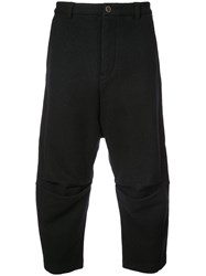 Individual Sentiments Cropped Casual Trousers Black