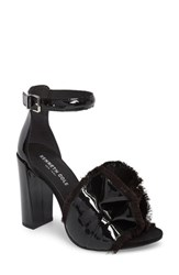 Kenneth Cole Women's New York Dayna Ankle Strap Sandal Black Patent Leather