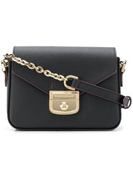Longchamp Metallic Chain Crossbody Bag Black