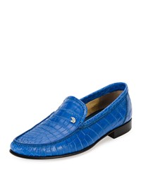 Stefano Ricci Classic Crocodile Leather Loafer Blue Men's
