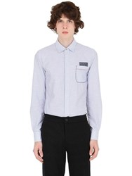 Bob Strollers Striped Cotton Shirt With Elbow Patches