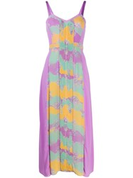 Three Floor Pastel Plisse Dress Purple