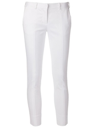 Reed Krakoff Cropped Skinny Trousers White