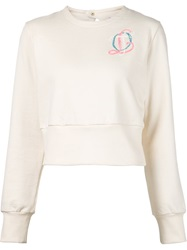 Olympia Le Tan Cropped Sweatshirt