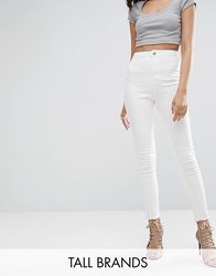 Missguided Tall Vice High Waisted Ankle Grazer Super Stretch Skinny Jean White