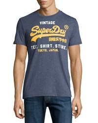 Superdry Graphic Vintage Cotton Tee Princeton Blue Marl