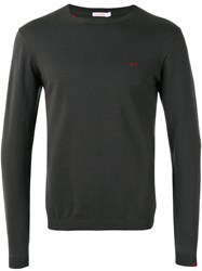 Sun 68 Crew Neck Jumper Men Cotton S Grey