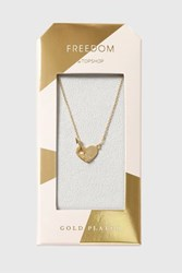 Topshop Gold Plated Heart And Arrow Necklace Clear