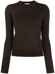 Roseanna Basic Gloss Fitted Top Brown