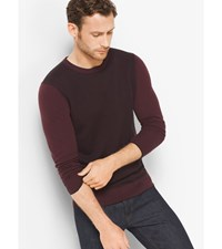 Herringbone Merino Wool Crewneck Sweater