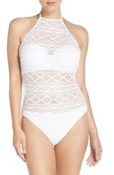 Freya Women's 'Sundance' Underwire Halter One Piece Swimsuit White