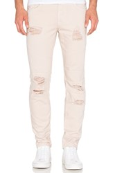Stampd Distressed Panel Denim Cream