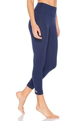 Beyond Yoga X Kate Spade Lunar Cut Out Capri Legging Navy