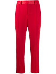 Zadig And Voltaire Panda Satin Crepe Trousers Red