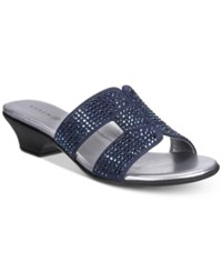 Karen Scott Esmayy Slide On Sandals Navy