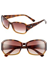 Women's Converse 'Plugged In' 58Mm Sunglasses Brown
