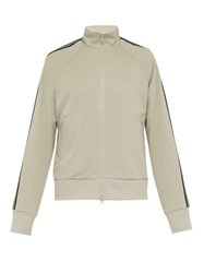 Y 3 Three Stripe Technical Jersey Track Jacket Cream