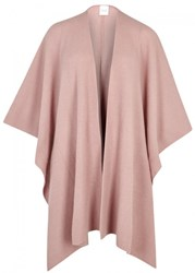 Madeleine Thompson Clover Pink Ribbed Cashmere Wrap Light Pink