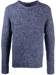 Paul Smith Ps Speckled Knit Jumper Blue
