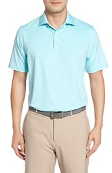 Peter Millar Men's Moisture Wicking Stretch Jersey Polo Seafoam
