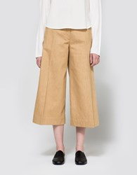 Christophe Lemaire Large Pants Crop In Biscuit