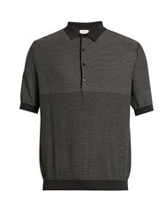 Christophe Lemaire Cotton Blend Polo Shirt Grey Multi