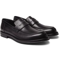 Berluti Leather Penny Loafers Black