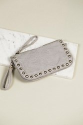 Free People Womens Distressed Studded Wallet