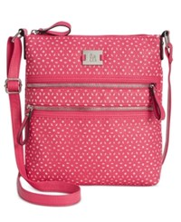 Styleandco. Style And Co. Veronica Perforated Crossbody Only At Macy's Pink Perf