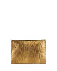 Tom Ford Metallic Python Zip Pouch Gold