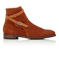 John Lobb Men's Ankle Wrap Jodhpur Boots Tan